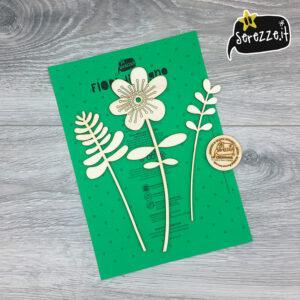 fiori in legno